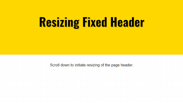 Demo Image: Responsive Scroll Header