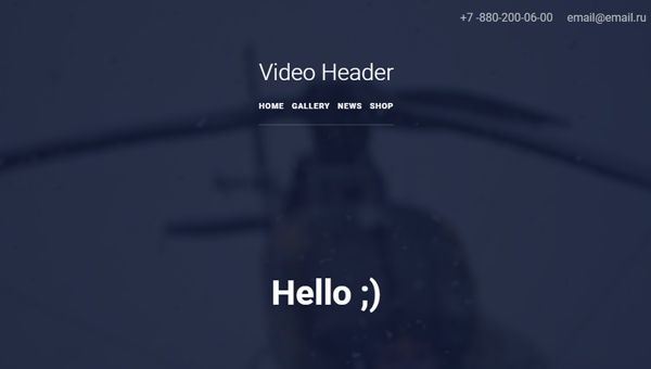 Demo Image: Video Header