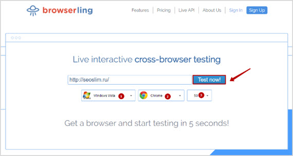 сервис browserling.com