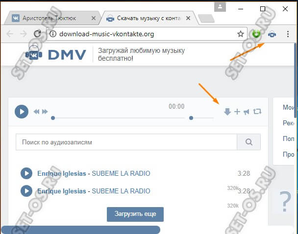 Расширение DVM - Download Music Vkontakte