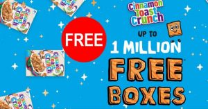 free cinnamon crunch cereals