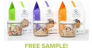free real made oatmeal sample