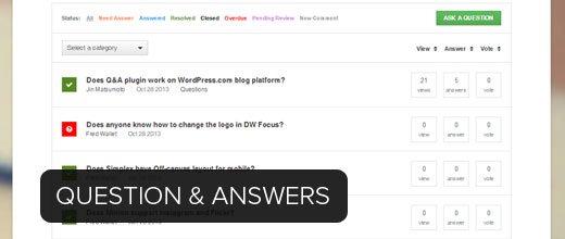 Creating question and answer website in WordPress